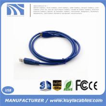 6FT 2m de alta velocidad USB 3.0 A macho a Micro B USB cable de sincronización de datos Azul Caliente