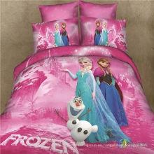 Frozen 100% algodón 3D impreso conjuntos de ropa de cama