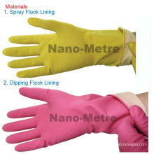 NMSAFETY Spray flocklined household latex gloves/working glove length 30cm