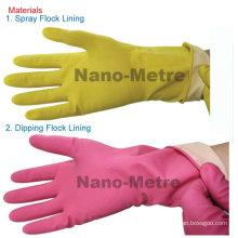 NMSAFETY manopla luvas de látex domésticas amarelo ou rosa peso da cor 40 gramas de comprimento 30 cm