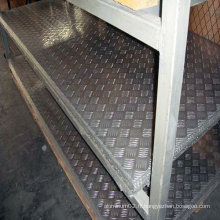 Plancher en aluminium à cinq plaques à damiers 1100 H14