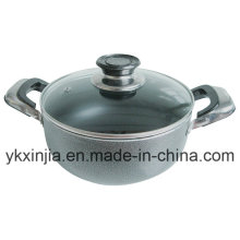 Kitchenware Aluminum Marble Coating Sauce Pot Cookware