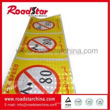 Adesivos de vinil refletivo prismático para a segurança rodoviária