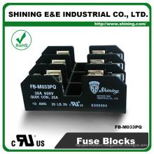 FB-M033PQ UL Approved Equal To Bussmann 30A 3 Pole Porcelain Fuse Base