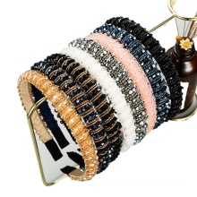 Bandeau fascia per capelli Baroque Crystal Beads Sponge Slim Headband Luxury Hair Accessories Vingtage Retro Korean Fashion Handmade Hairband Dropshipping