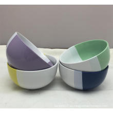 Tazón de cena de cerámica ecológico de dos colores de 5.5 ''