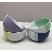 Tazón de cerámica de la cena de la porcelana de Ec-Friendly de dos colores de 5.5 ''