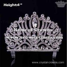 Unique Gorgeous Crystal Crowns With Combs