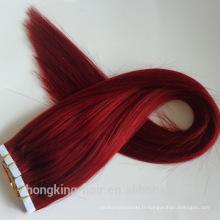 Nouveaux produits pas cher vierge cheveux humains bande de cheveux extension / peau trame avec top grade
