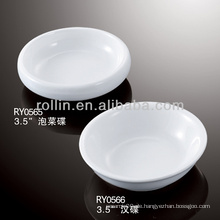 Gesundes, haltbares, weißes Porzellan-Ofen-sicheres Diamant-förmiges Dip-Teller