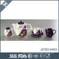 Wholesale price wave point decal design fine new arrival porcelain tea set