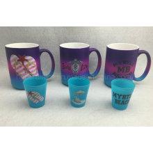 Tasse de jet de couleur, tasse de couleur au néon, tasse promotionnelle