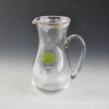 Vaso de vidro da impressão do decalque para o repouso