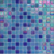 Mosaico de vidro Blue Iridium para telha de parede