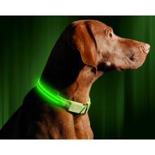 Mascotas Collares Poliéster ajustable que brillan en la noche