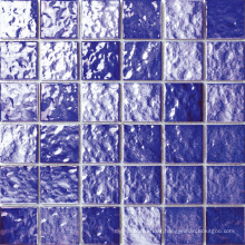 Glazed Bumpy Surface Purple Porcelain Pool Mosaic