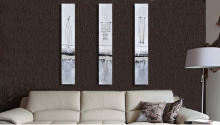 Abstract Wall Art Triptych Modern Handmade Oil Painting