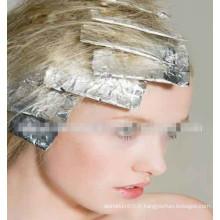 Imprimé coloré pré-coupé coiffure cheveux feuille d'aluminium avec tissu pour salon de coiffure, rouleaux de feuilles imprimées