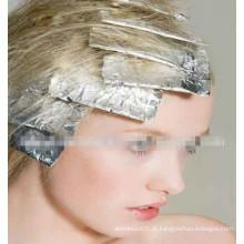 Papel de cabeleireiro pré cortado e colorido pré-cortado Folha de alumínio com tecido para salão de cabeleireiro, rolos de papelão impressos
