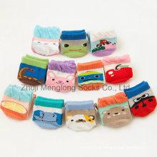 Meias de algodão plissado confortável Eco-Friendly antiderrapante pontos Kid