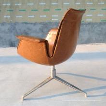 Poltrona nova moderna do sofá do plutônio / couro do projeto com pés do metal