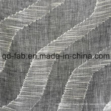 70*58 Cotton Linen Jacquard Woven Fabric (QF16-2516)