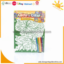 Coloring Poster With Glitter