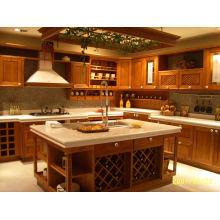 Society Hill Raised (Mocha) Gabinete de cozinha de madeira maciça