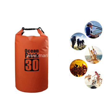 Outdoor Sports Durable PVC Waterproof 30L Custom Printing Dry Cleaning Bag