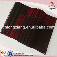 mens fashionable jacquard chinese long silk cashmere scarf