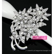 Broche de diamante de diamante floral charmoso para meninas