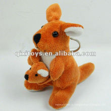 bonito mini brinquedo de canguru recheado e pelúcia