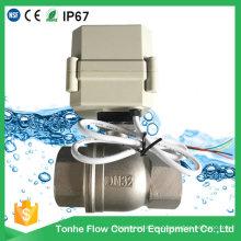 "2 ""Válvula de bola de agua de acero inoxidable de control eléctrico Válvula de bola motorizada (A100-T50-S2-C)"