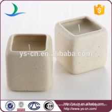 Квадратный застекленный керамический подсвечник для свечи Stick для отеля