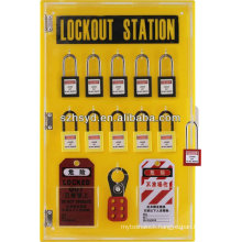 High quality 10 padlock+Hasp Lock+PVC lockout tag with covers lockout station