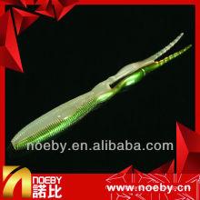 NOEBY isca de pesca de PVC de duas cores, aromas macios gt