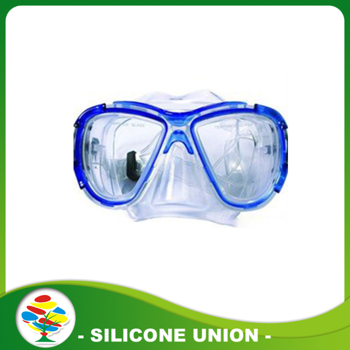 blue silicone diving glasses