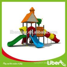 Toboggan en plastique extérieur / terrains de jeux extérieurs toboggans en spirale pour enfants / toboggan pour enfants en plein air