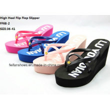 Neueste heiße verkaufende Dame Casual High Heel Flip Flop Slipper (FF68-2)