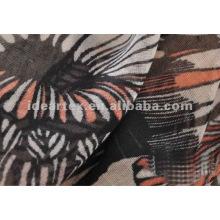 projeto 75D personalizado impresso Chiffon tecido para cachecol