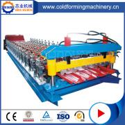 Máquina de produção de folha de telhado de perfuração de chapa metálica de alta tecnologia