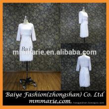 Hight qualidade celebridade celebridade mangas compridas vestido de vestido de cintura do império vestido casual para casamento de Hong Kong