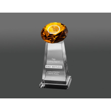 Golden glass diamond award