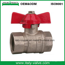 Italycopper Produzido 8 Anos de Garantia Feminino Borboleta Válvula de Esfera (AV1030)