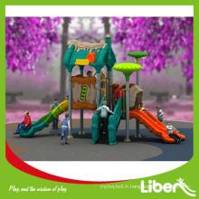 Hot Sale Équipement de jeu de jardin bon marché, Funny Kids Outdoor Jouer Jouets Plastic Slides