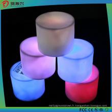 La plus nouvelle bougie sans flamme colorée de LED s'allume avec la batterie