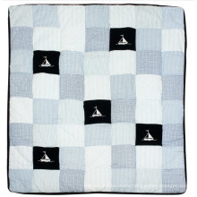 Handmade Baby Quilt with Ship Design for Baby Boy