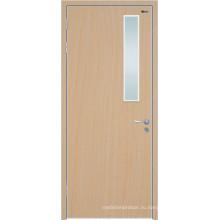Твердая древесина hemlock Внешняя двери, деревянные межкомнатные двери, твердые деревянные двери со стеклом