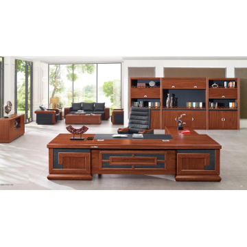 Große Holzfurnier Antike Manager Executive Desk