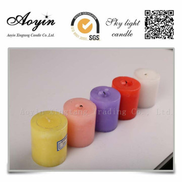 10 * 15 Färgstark Tearless Scented Pillar Candle for Peru